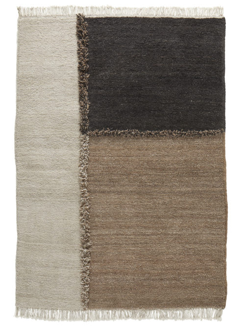 Sera Helsinki E1027_black-brown_knotted carpet