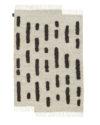 Sera Helsinki Laine Carpet Black-white woven