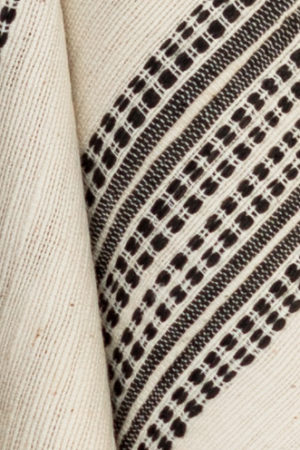 White with gray pattern